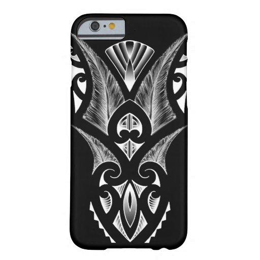 Maori tattoo design black koru barely there iphone 6 case for Tattoo artist iphone cases