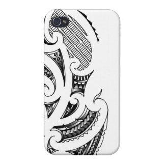 Maori tattoo design case for iPhone 4