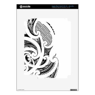 Maori tattoo design skins for iPad 3