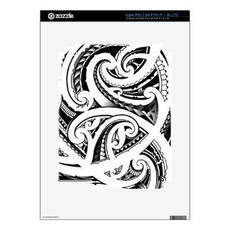 Maori tattoo design with koru/fern pattern iPad 3 skin
