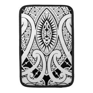 Maori tattoo design with tribal patterns MacBook sleeves