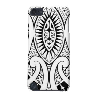 Maori tattoo design with tribal patterns iPod touch (5th generation) cases