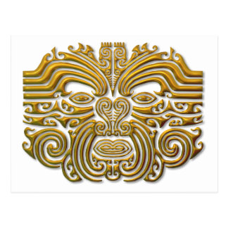 Maori Tattoo - Gold Postcard