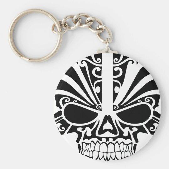 Maori Tattoo Mask Skull Keychain