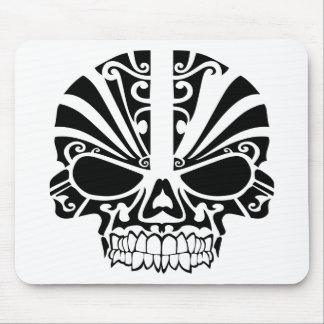 Maori Tattoo Mask Skull Mouse Pad
