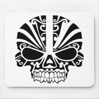 Maori Tattoo Mask Skull Mousepads