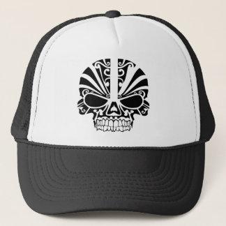 Maori Tattoo Mask Skull Trucker Hat