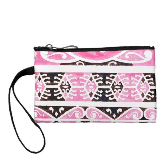 Maori Tibal Art pink bag