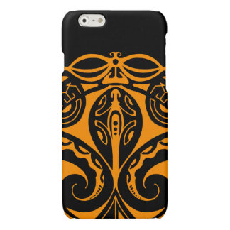 Maori tiki tattoo with tribal lizard design glossy iPhone 6 case