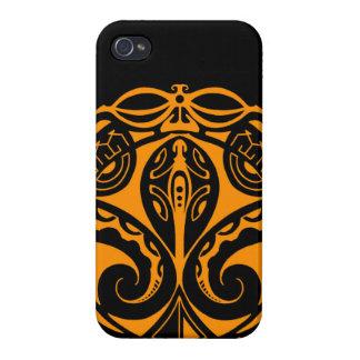 Maori tiki tattoo with tribal lizard design iPhone 4 cover