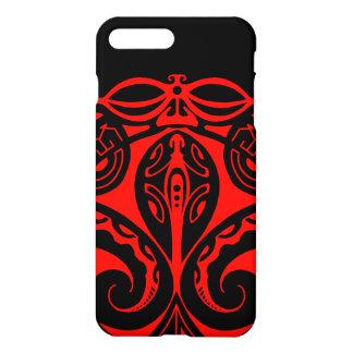 Maori tiki tattoo with tribal lizard design iPhone 8 plus/7 plus case