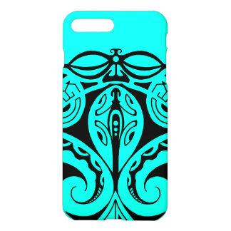 Maori tiki tattoo with tribal lizard gekko design iPhone 8 plus/7 plus case
