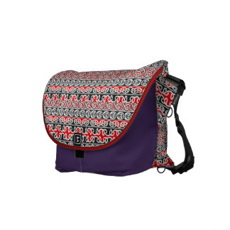 Maori tribal design messenger bag