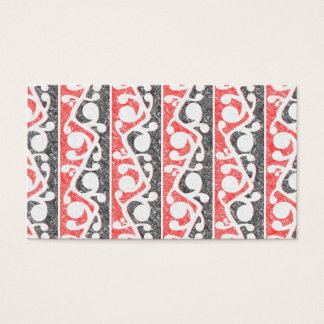 Maori Tribal Distressed Pattern Business Card