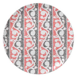 Maori Tribal Distressed Pattern Melamine Plate