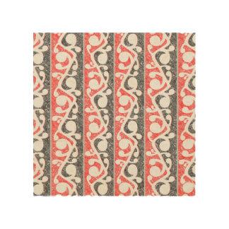 Maori Tribal Distressed Pattern Wood Print