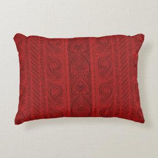 Maori tribal pattern – The Whakairo art of carving Accent Pillow
