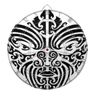 Maori Tribal Tattoo Mask Dartboard