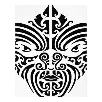 Maori Tribal Tattoo Mask Letterhead