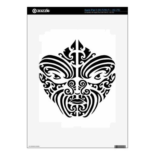 Maori Tribal Tattoo Mask iPad 3 Skin