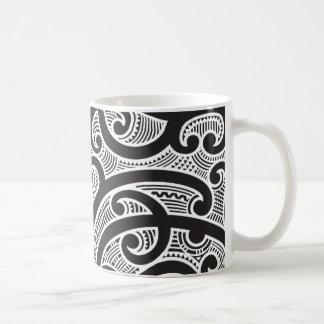 Maori Tribal Tattoo Pattern Coffee Mug