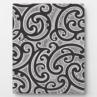 Maori Tribal Tattoo Pattern Plaques