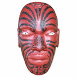 Maori War Canoe Figurehead Photo Sculpture Ornament