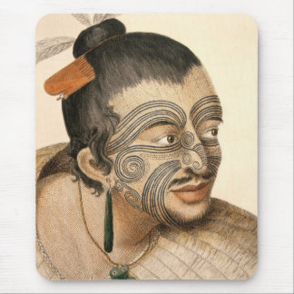 Maori Warrior about 1784 Mouse Pad