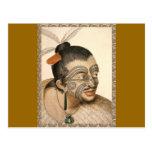 Maori Warrior about 1784 Postcards