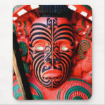 Maori Warrior Carving Mouse Pad