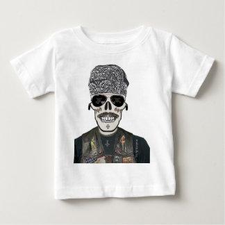 maota8 calavera motera camiseta bebe