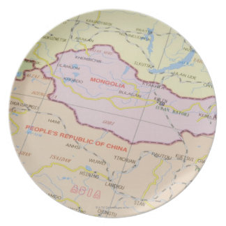 Map 2 melamine plate