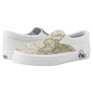 Map 2 printed shoes