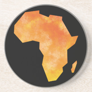 Map Africa Drink Coaster