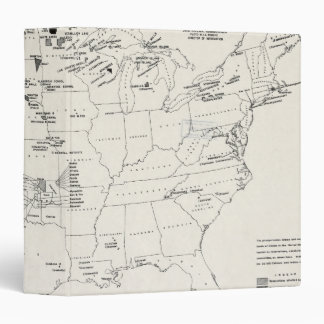 MAP: AMERICAN INDIANS 2 3 RING BINDER