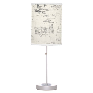 MAP: AMERICAN INDIANS 2 DESK LAMP