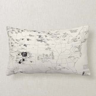 MAP: AMERICAN INDIANS 2 LUMBAR PILLOW