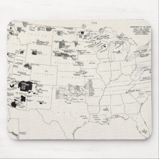 MAP: AMERICAN INDIANS 2 MOUSE PAD
