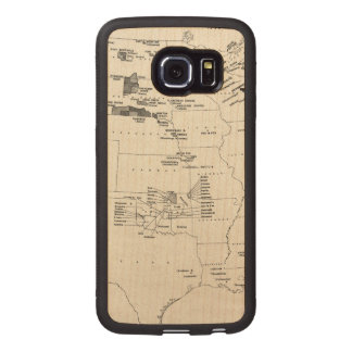 MAP: AMERICAN INDIANS 2 WOOD PHONE CASE