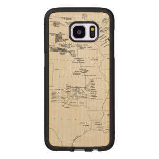 MAP: AMERICAN INDIANS 2 WOOD SAMSUNG GALAXY S7 EDGE CASE