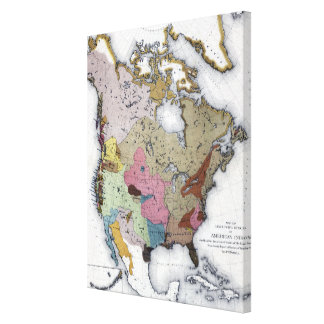 MAP: AMERICAN INDIANS 3 CANVAS PRINT
