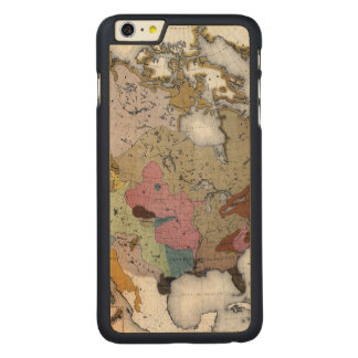 MAP: AMERICAN INDIANS 3 CARVED® MAPLE iPhone 6 PLUS SLIM CASE