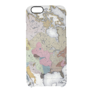 MAP: AMERICAN INDIANS 3 CLEAR iPhone 6/6S CASE
