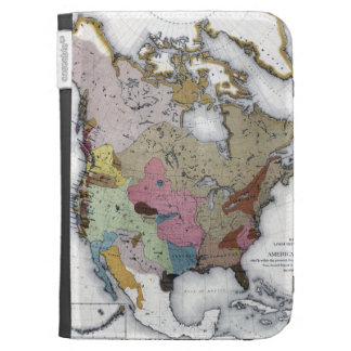 MAP: AMERICAN INDIANS 3 KINDLE 3G CASES