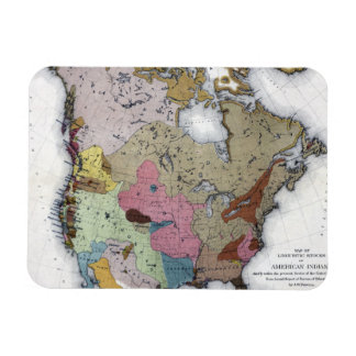 MAP: AMERICAN INDIANS 3 MAGNET