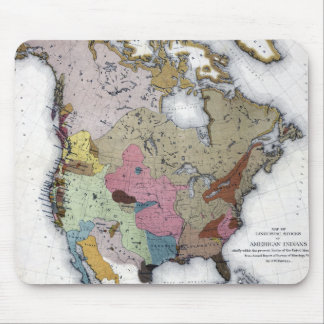 MAP: AMERICAN INDIANS 3 MOUSE PAD