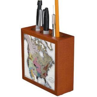 MAP: AMERICAN INDIANS 3 PENCIL HOLDER