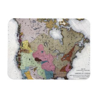 MAP: AMERICAN INDIANS 3 RECTANGULAR PHOTO MAGNET