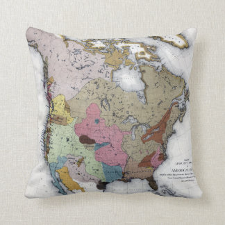 MAP: AMERICAN INDIANS 3 THROW PILLOW