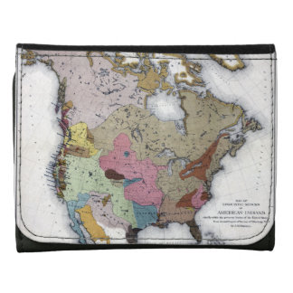 MAP: AMERICAN INDIANS 3 WALLET
